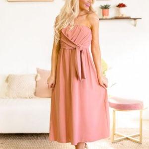 NWT Entro Boutique Strapless Dress Large Gorgeous!